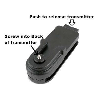 Belt/Saddle/Purse Quick-Release Transmitter Holder